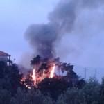 Incendio in via Ranco