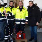 Consegna materiale del Coordinamento Volontari